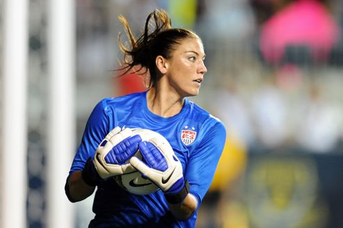 Hope Solo, gardienne de l'équipe US de football